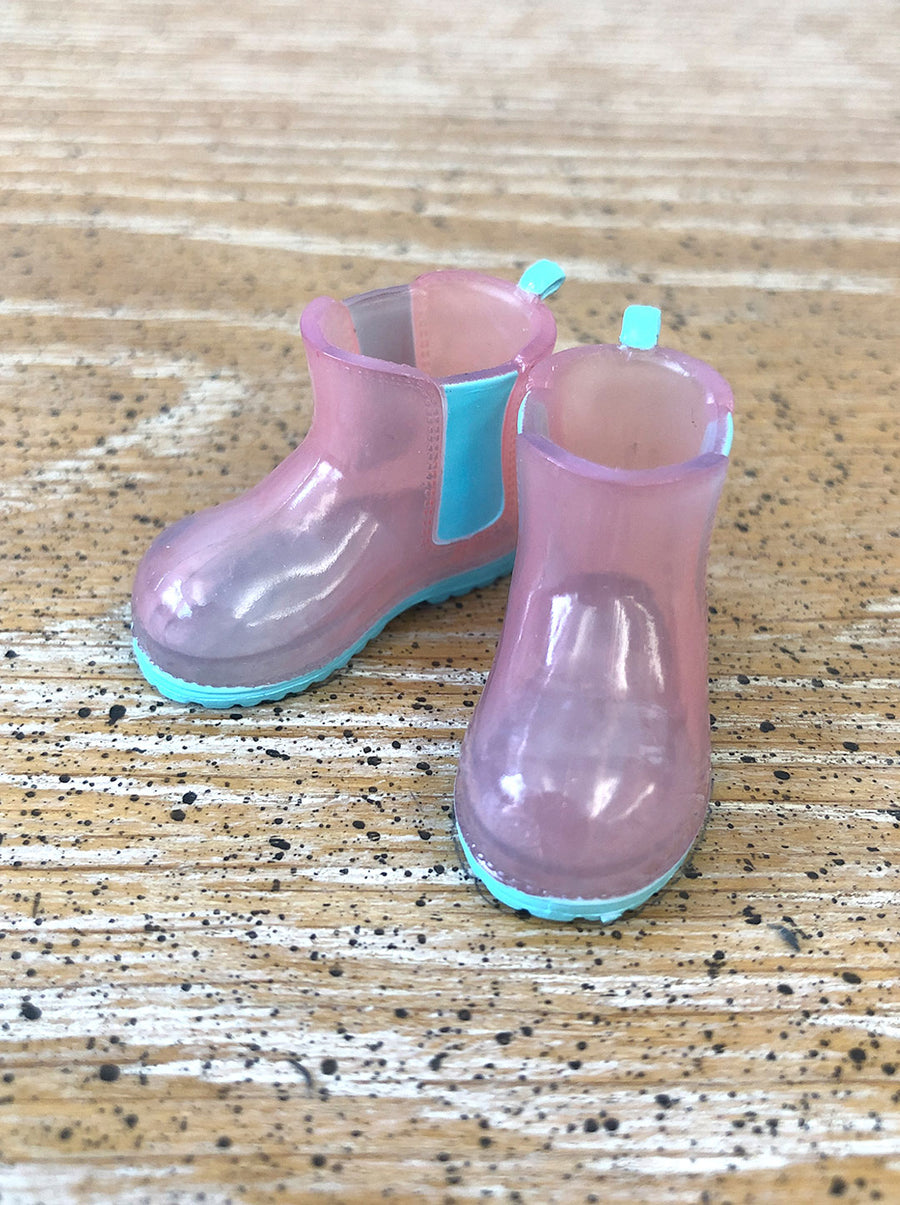[APS28] Transparent rain boot in Rose