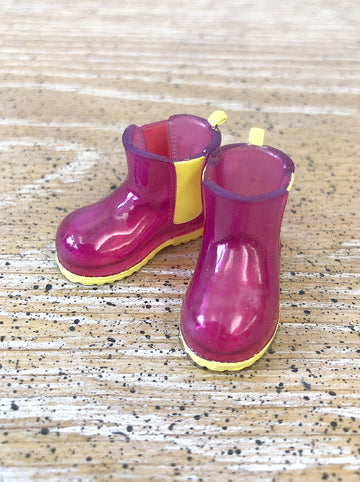 [APS29] Transparent rain boot in Cherry