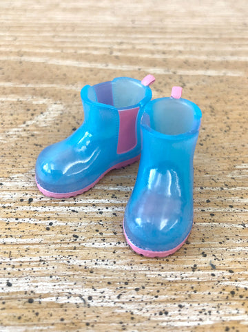 [APS30] Transparent rain boot in BLUE