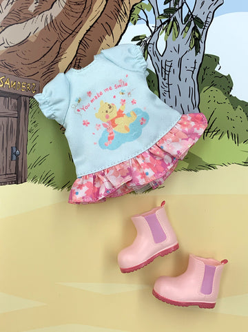 [OF396/C ]Disney Winnie the Pooh Edition Mui-chan Sakura Dress / Baby Blue (Exclusively For Hong Kong)