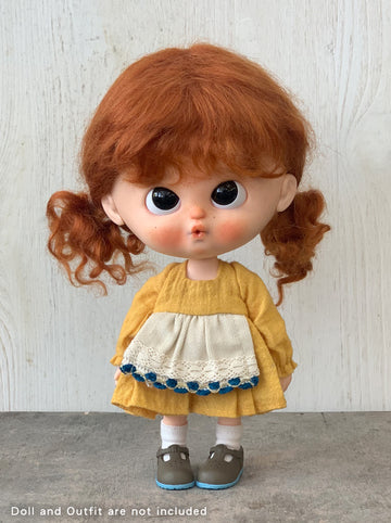 [DW42] Mohair Wig - Curly Pigtails/Terracotta