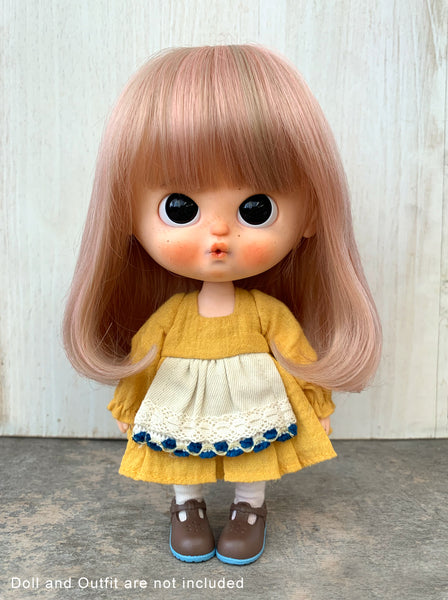 [DW51] Hair Wig - Long Bob Hair /Pastel Brown
