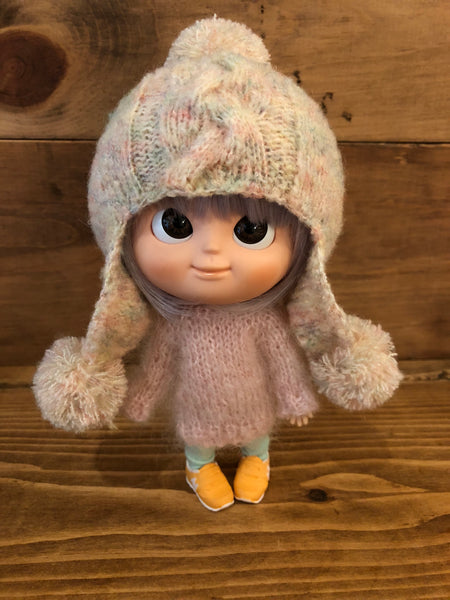 [AHT49] Earflap Hat / Cream