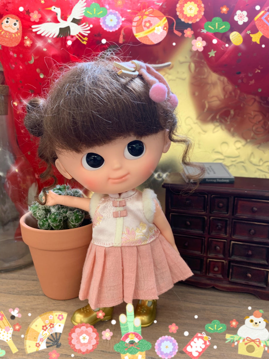 [OF404] Lunar New Year Dress Set (Pink)