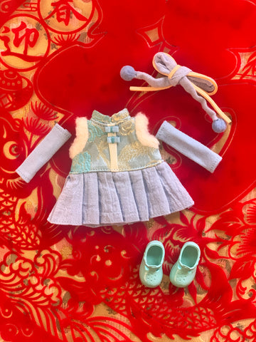 [OF405] Lunar New Year Dress Set (Blue)