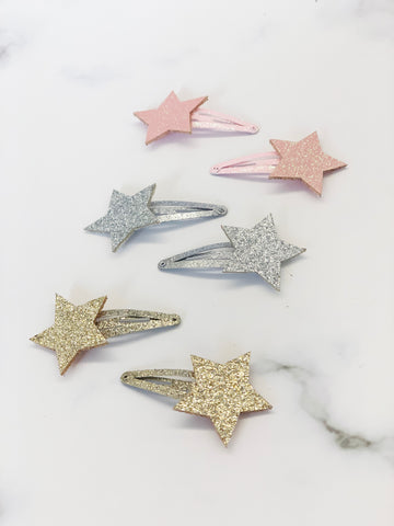 [AHC24] Shinning Huge Star Hair Clip Set