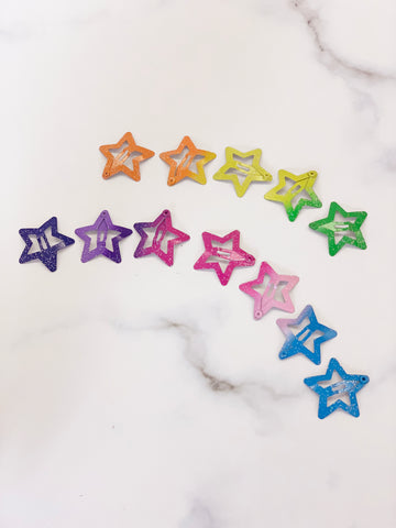 [AHC25] Galaxy Star Hair Clip Pack