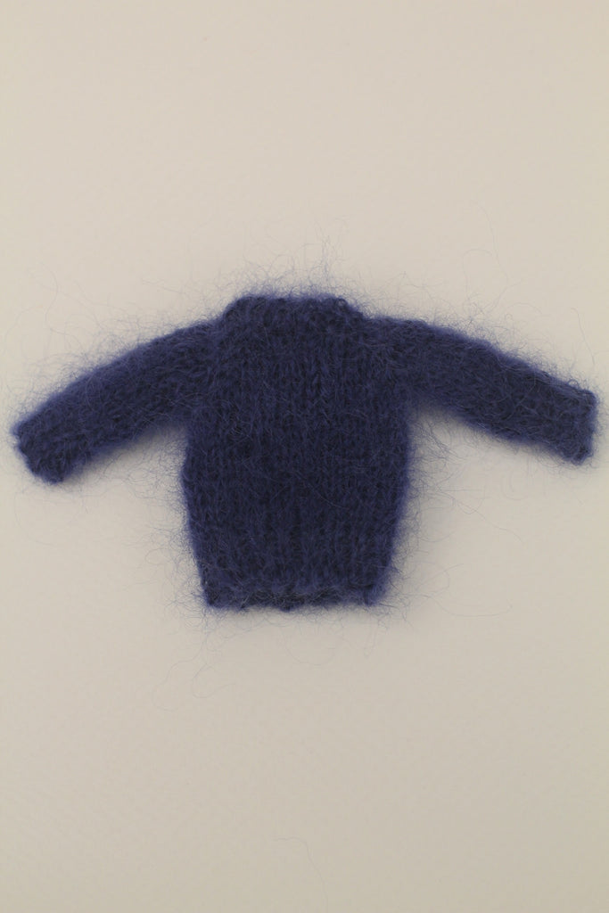 [OF163] Hand Knit Mohair Sweater (Classic Blue)