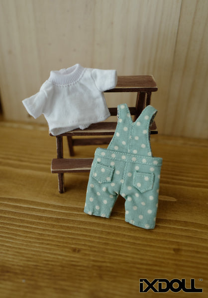 [OF195] Hemlock with polka dot jumpsuit set
