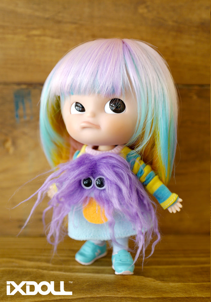 [OF223] Fluppy Hair Monster Sweater (Pastel Blue)