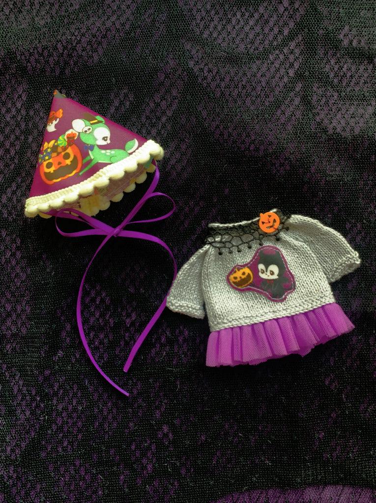 [OF370A] Halloween Party Dress Set (Sliver)