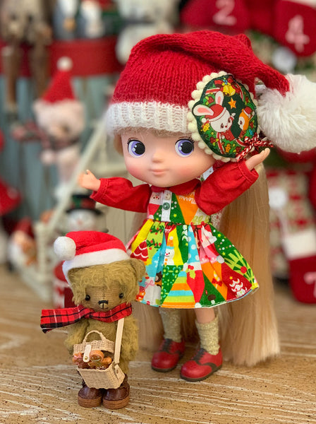 [OF402] Christmas Patchwork Dress Set
