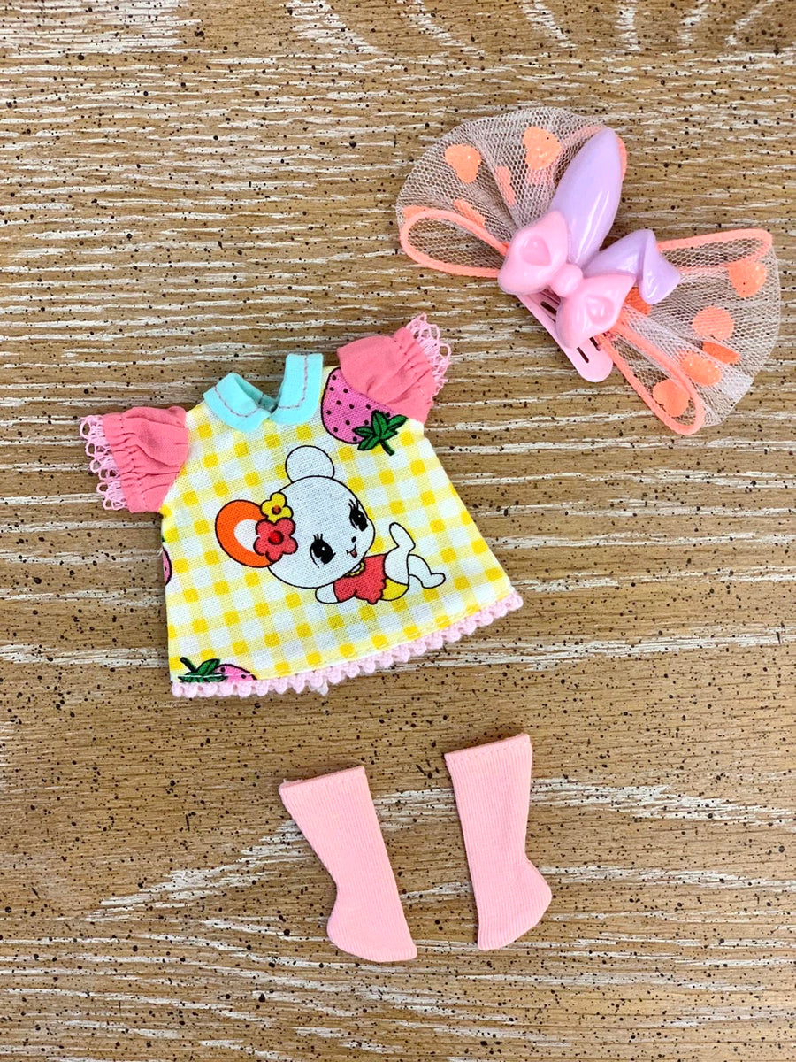 [A011a]Patch work Dress Set (orange)