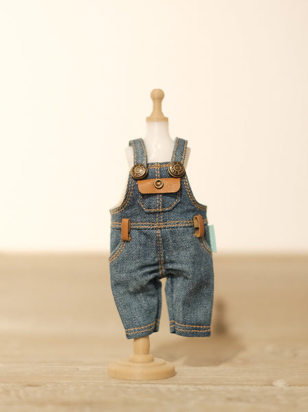 [OF290] MC Jeans Denim Overalls FAUX Leather (Dark)