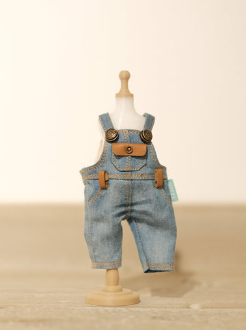 [OF289] Mui-Denim Overalls FAUX Leather (Light)