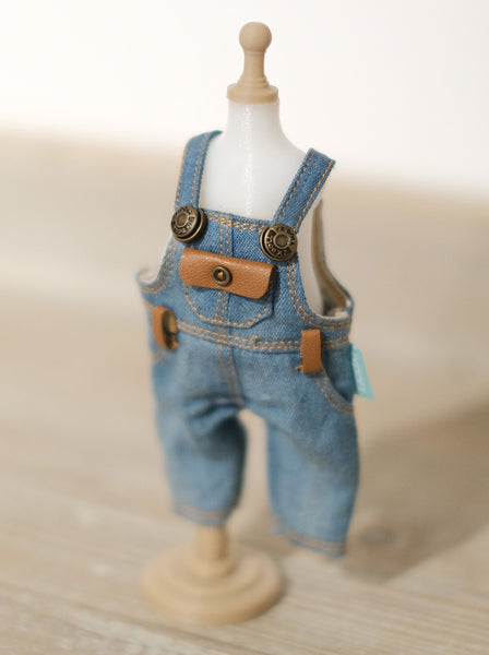 [OF289] MC Jeans Denim Overalls FAUX Leather (Light)