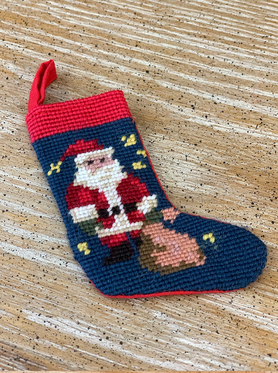 [ATY-22-Or] Cross stitch Stockings Ornaments (Santa Claus)