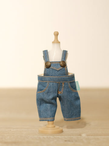[OF288] Mui-Denim Overalls Unwashed (Light)