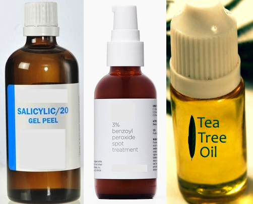 Effectiveness of Salicylic Acid, Benzoyl Peroxide and Tea Tree Oil in Treating Acne