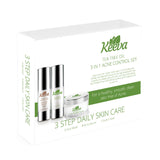 Ultimate Acne Kit (3 in 1) PLUS FREE Derma Roller! - Keeva's ORIGINAL Tea Tree Oil Acne Formula. Comes with Face Wash, Acne Cream, and Acne Serum!