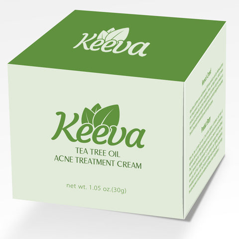 3 Jars of Keeva's #1 Selling Tea Tree Oil Acne Treatment Cream For All Types of Acne & All Skin Types. Our Guarantee: Be Over 90% Acne-Free In 100 Days or Less Without Dry Skin or It's FREE!