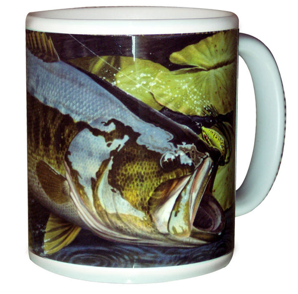 bass fishing coffee mug