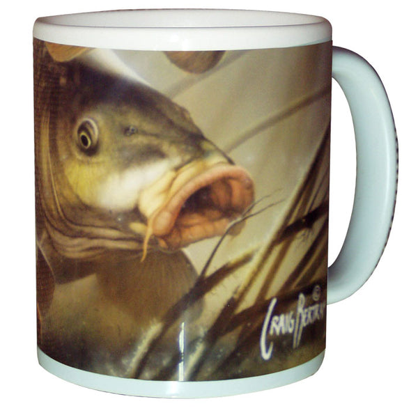 carp fishing coffee mug