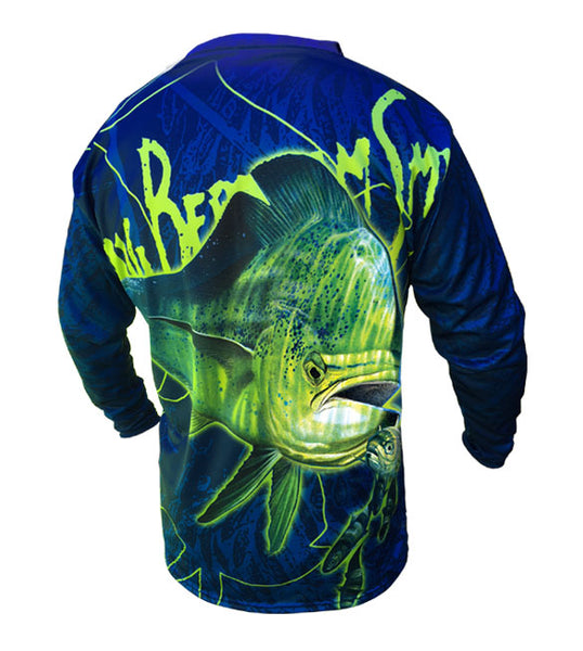 long sleeve shirt with a dorado image on it