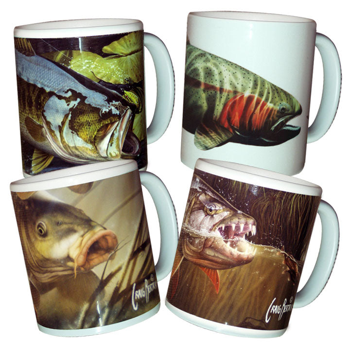 fresh water fishing mugs