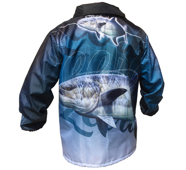 rain jacket with a leerie image on it