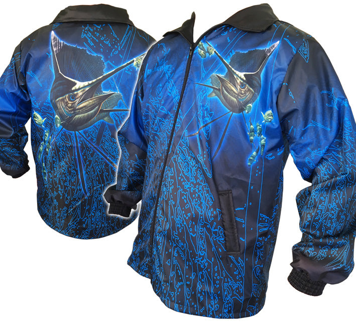 Sailfish Neon Zip-Up Rain Jackets