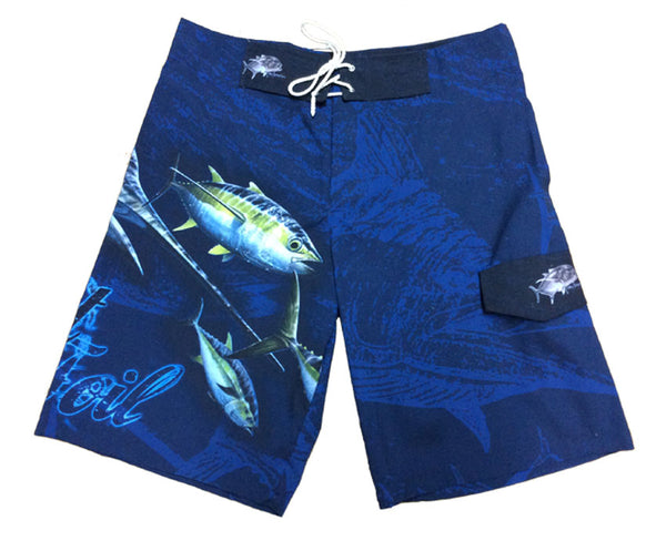 board shorts with a marlin on it