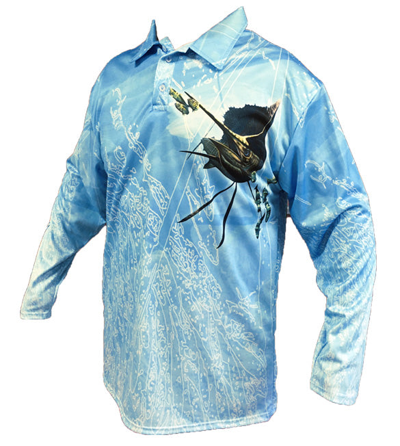 Sailfish LB Golf Long Sleeve Shirt (Neon)