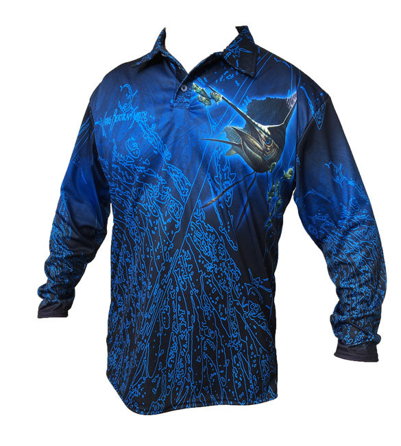 Sailfish Golf Long Sleeve Shirt (Neon)