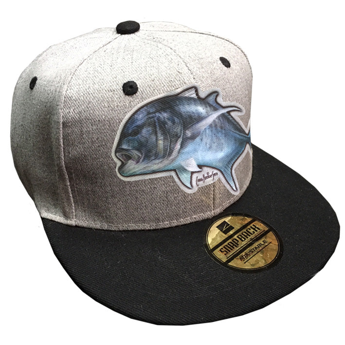 grey trucker cap with a GT on it