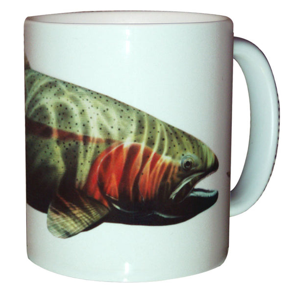 trout fishing coffee mug