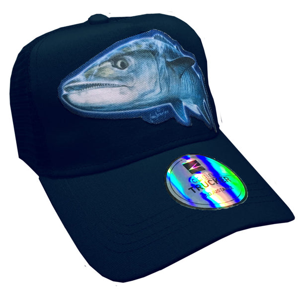 trucker cap with a couta image on it