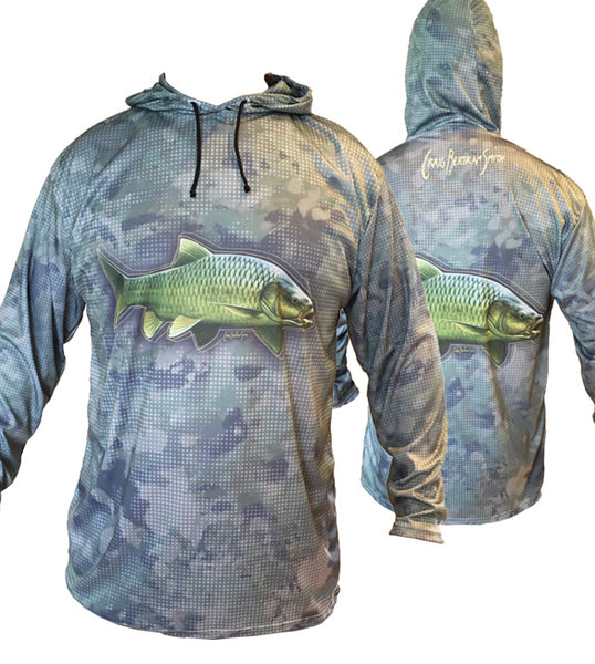 Smallmouth Yellow Camo Light Hoodie