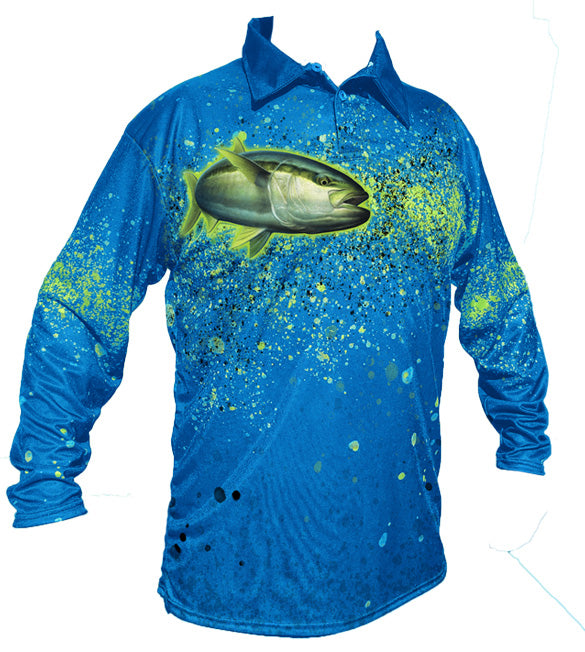 YellowTail Golf Long Sleeve Shirt (BLUE)