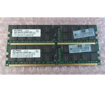 405477-061 408854-B21 8GB(2x4G) DDR2 REG ECC 667 PC2-5300P server memory ram kit, for ML150G5/DL180G5