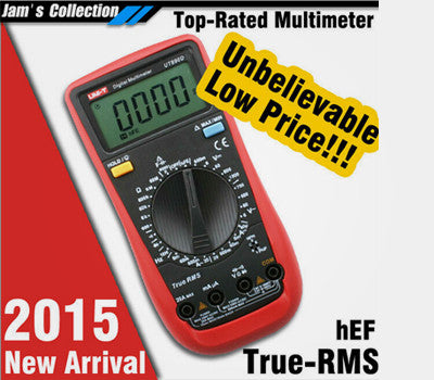 2015 New arrival UNI-T Digital Multimeter manual range true RMS tRMS REL AC/DC frequency multimeter