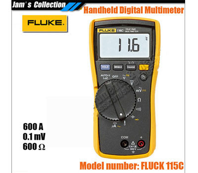 100% Authentic from Fluke Shanghai 116C 116 HVAC True RMS Digital Multimeter DMM, Temperature & Microamp,Warranty