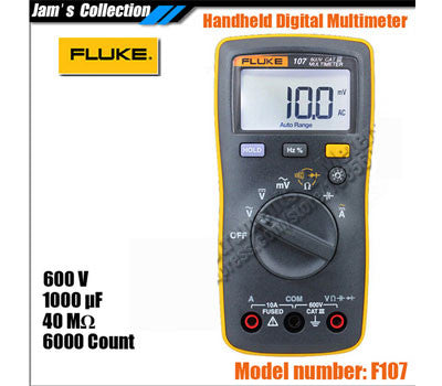 2013 New fluke 107 F107 200g handheld Pocket digital multimeter diode test Backlight with magnetic Strap