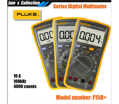 3 inch LED FLUKE 15B+ F15B+ Digital Multimeter AC DC Voltage, resistance, continuity, capacitance, frequency Meter Back Light