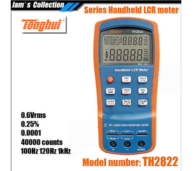 Copy of 0.25% Accuracy 1KHz Handheld Bridge Portable LCR/LCZ/LCRZ Meter Tonghui TH2822