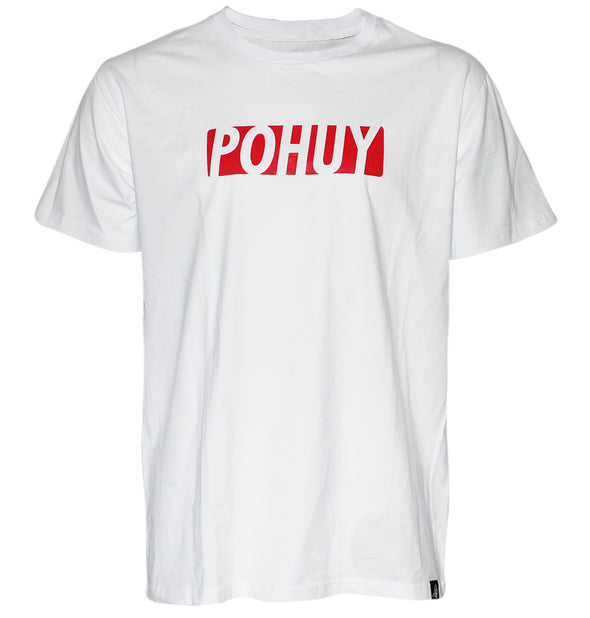 Pohuy Red Box Logo White Tee