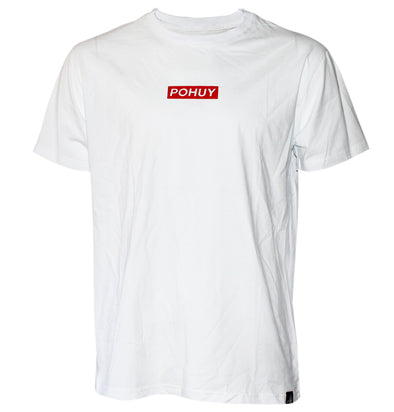Pohuy Small Box Logo White Tee