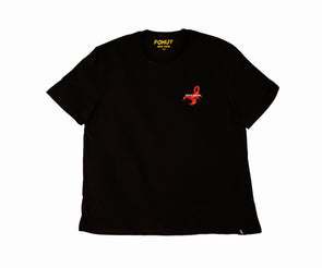 Pohuy Death Awaits Scorpion Black Tee (Oversized) Misprint*