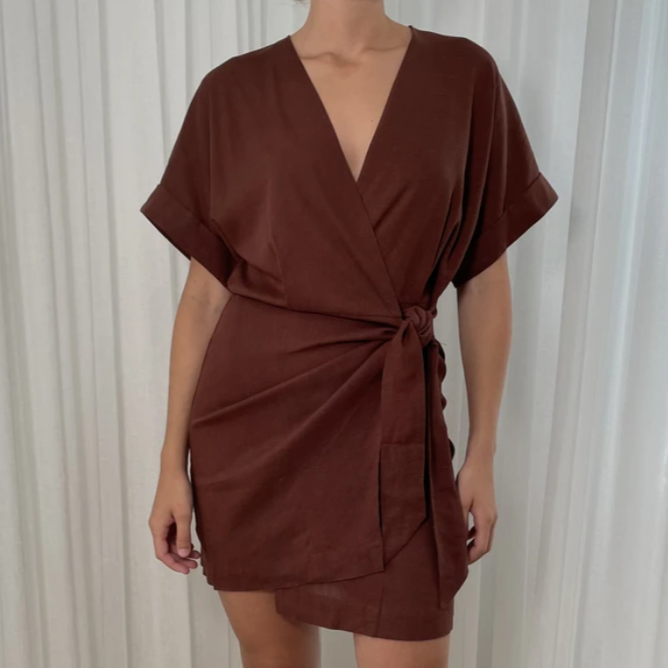 Chocolate Wrap Dress