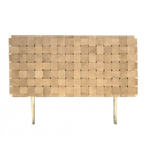 Tan Woven Leather Headboard